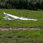 Model aircraft in flight