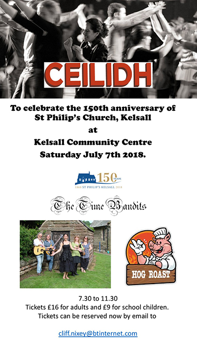 Ceilidh - To celebrate the 150th anniversary of St Philip's Church