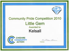 Little Gem 2010 - awarded to Kelsall for St Philips churchyard