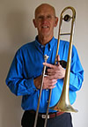 Arther Pedder with trombone