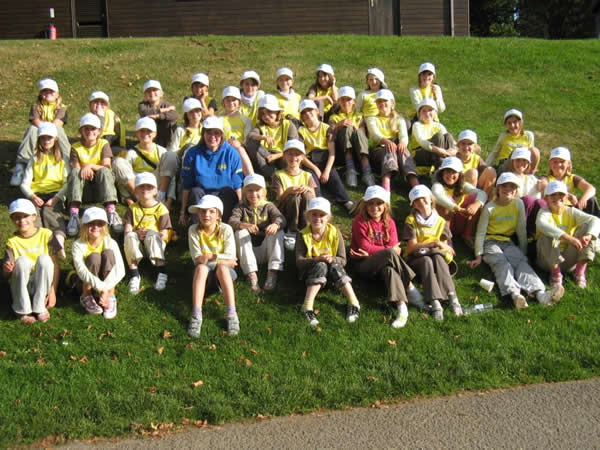 Kelsall Brownies at PGL weekend at Boreatton Park