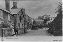 Church Lane (now Church Street), looking up towards Church Street North. Click image for bigger size.